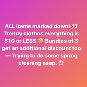 PSA‼️🎉 Check out my closet for steals!